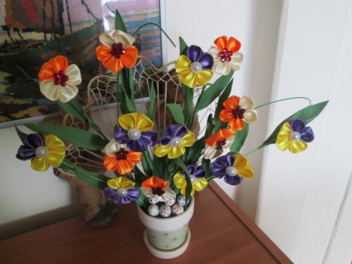 dekoracja z kwiatków Eli.
