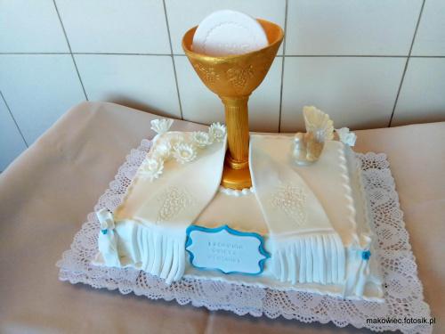 tort z kielichem #chrzciny #tort na #chrzciny #tort #torty #kielich #stóła