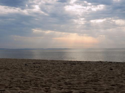Dziś morze było bardzo spokojne..