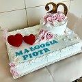Tort na 20 rocznicę ślubu #tort #weselny #tort na #rocznicę #tort #okzjonalny #tort z #sercami #tort #torty