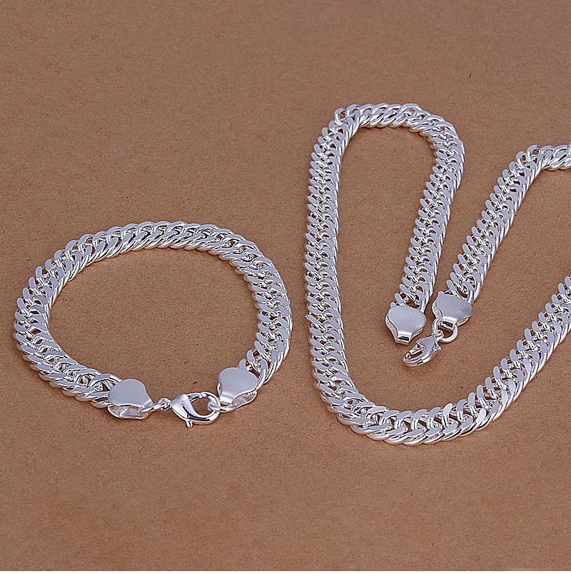 NEU Modeschmuck Handgelenkkette Silber plattiert