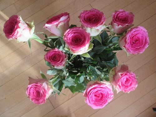 biało-różowe