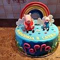 Świnka pepa #torty #dla #dzieci #torty #tort #peppa #tort z #myszkami #tort ze #świnką #pepa