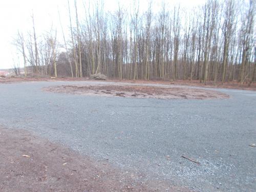 Nowy plac składowy w Bażantarni przy szlaku GreenVelo