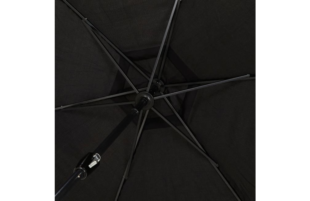 Sonnenschirm Ampelschirm Gartenschirm Ø 2,7M Parasol George Home Antracit