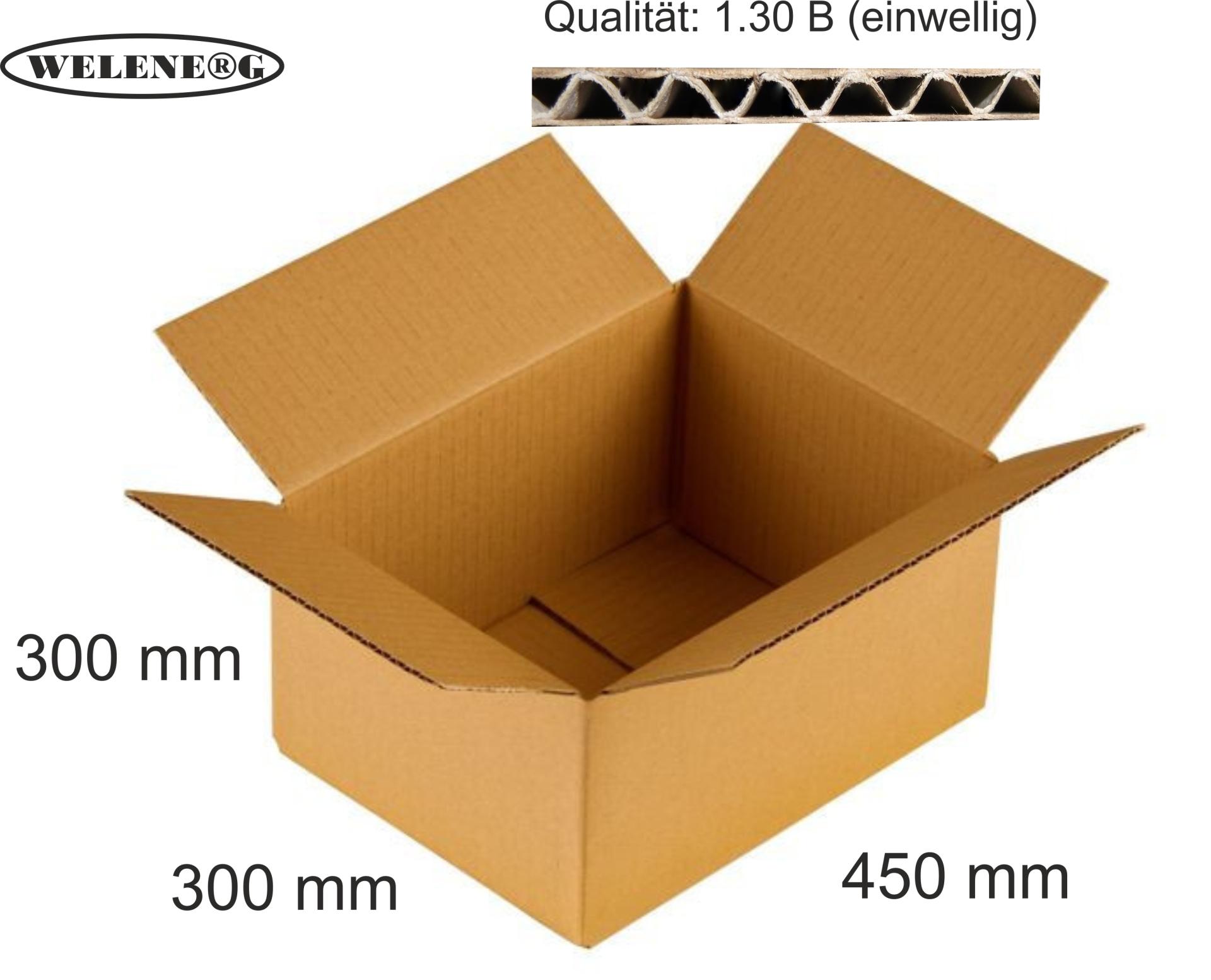 40 Faltkartons 450x300x300 mm B-410g//m2  Versandkarton Falt Kartons BRAUN