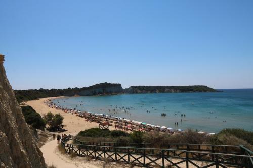 Plaża Gerakas z gniazdami żółwi Caretta-Caretta