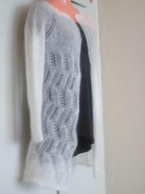 swetr piórko- rozm S, dł 75cm