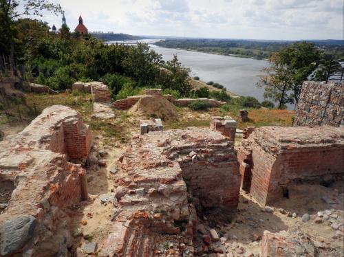 Ruiny krzyżackiego zamku w Grudziądzu.