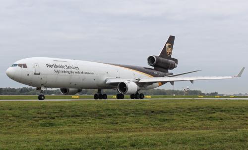 MD-11 UPS opuszcza po raz ostatni Polskę.