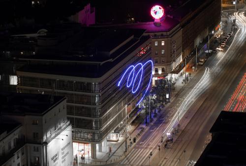 Neony niedawno odrestaurowanego domu handlowego Smyk - z pewnością przywołują wspomnienia starszemu pokoleniu :)