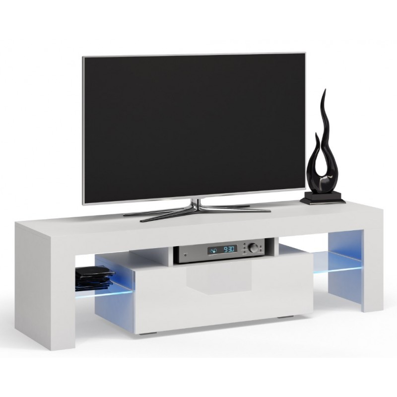 tv schrank lowboard tv m bel fernseher schrank fernsehtisch wei 140cm deko ebay. Black Bedroom Furniture Sets. Home Design Ideas