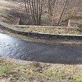 Kanał roboczy pochylni Oleśnica górą i rzeczka Klepa (Klepina) dołem.Akwedukt jak się patrzy.