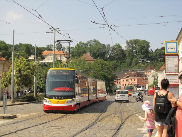 """Škoda ForCity 15T """"Praha"""", #9373, DP Praha"""