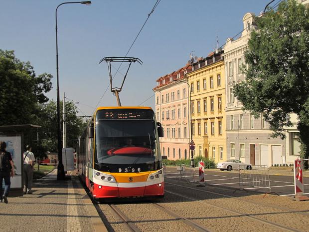 """Škoda ForCity 15T """"Praha"""", #9396, DP Praha"""