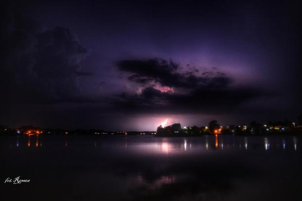 Szczytno - Burza nad jeziorem Domowe Duże