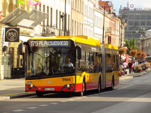 SU18 IV CNG, #9904, Arriva Bus Transport Warszawa