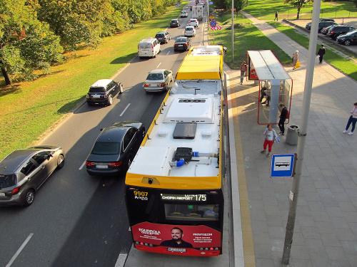 SU18 IV CNG, #9907, Arriva Bus Transport Warszawa