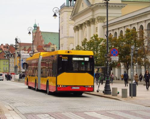 SU18 IV CNG, #9935, Arriva Bus Transport Warszawa