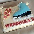 But łyżwiarski #tort #torty #okolicznościowe #tort #łyżwiarski #łyżwy #sporty #zimowe #but #łyżwiarski