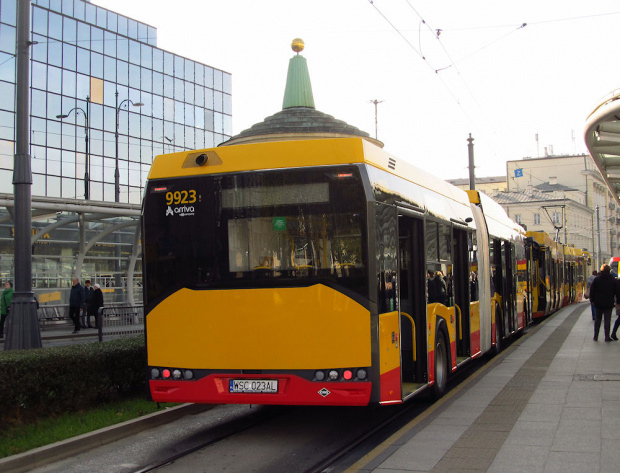 SU18 IV CNG , #9923, Arriva Bus Transport Warszawa