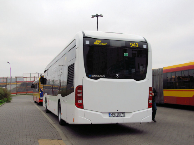 Mercedes eCitaro, Evobus Polska, testy w MZA W-wa, #943