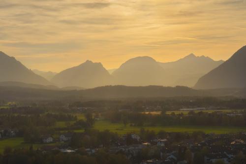 Salzburg, widok z Richterhohe w stronę Alp