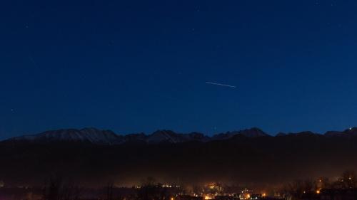 Przelot ISS nad Tatrami
