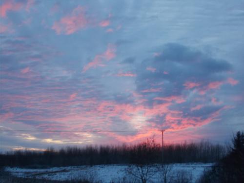 Zachód słońca w Milejewie