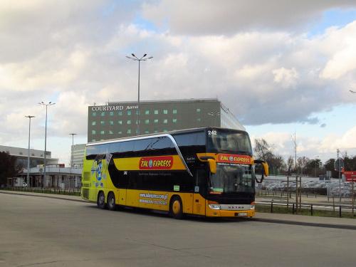"""Setra S431 DT, #242, """"Żak Tourist"""" Augustów"""