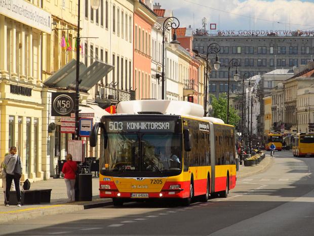 MAN NG313 CNG Lion's City G, #7205, MZA Warszawa