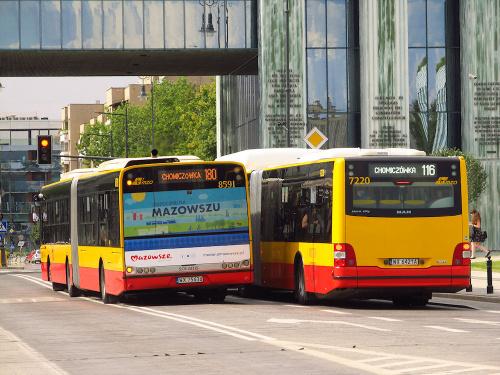 SU18 III, #8591 & MAN NG313 CNG Lion's City G#7220, MZA Warszawa