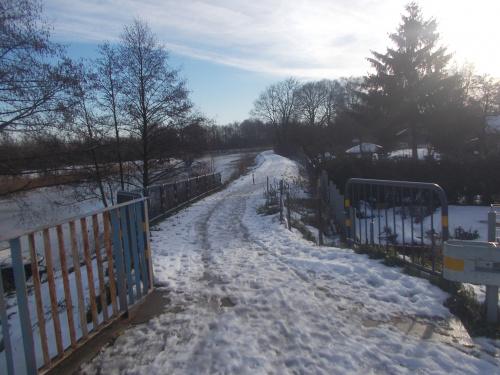 Odcinek EV10/EV13 Żelichowo-Nowy Dwór Gdański jeszcze bardzo zimowy