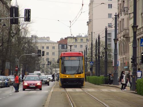 """Pesa 120Na """"Swing"""", #3243, Tramwaje Warszawskie"""