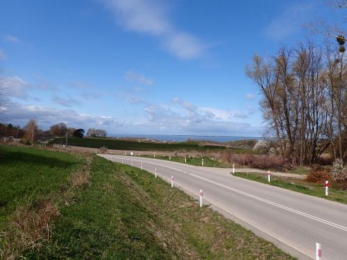 Widok znad DW 503 na Tolkmicko i Zalew Wiślany