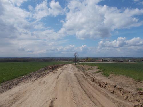 Po powiększeniu zdjęcia widać nowy horyzont nad Świętym Gajem