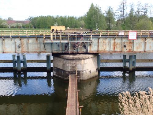 Rybina-most obrotowy kolei wąskotorowej