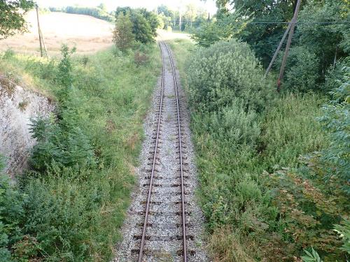 Nad linia kolejową Olsztyn-Braniewo