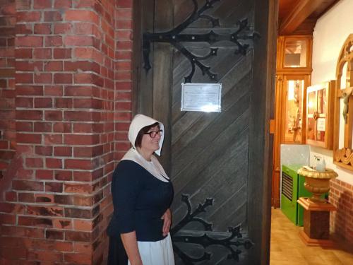 Elżbieta Mieczkowska, dyrektor Biblioteki Pedagogicznej, aktorka, scenarzystka, mennonitka. Kobieta renesansu :-)